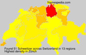 Surname Schweitzer in Switzerland
