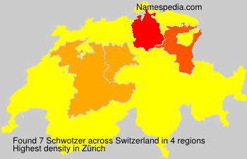 Surname Schwotzer in Switzerland