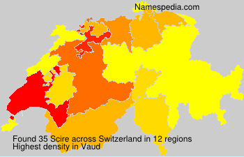 Surname Scire in Switzerland