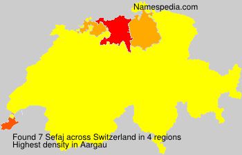 Surname Sefaj in Switzerland