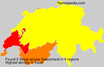 Surname Segal in Switzerland