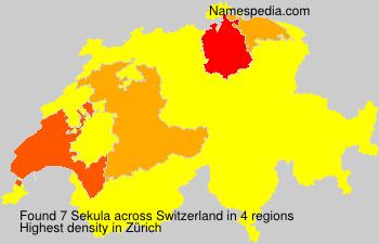 Surname Sekula in Switzerland