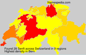 Surname Senft in Switzerland