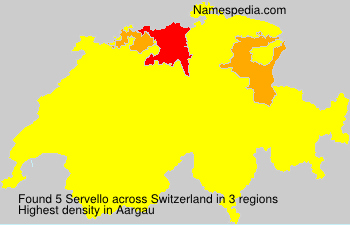 Surname Servello in Switzerland
