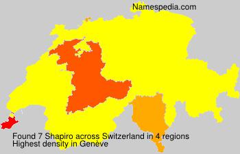 Surname Shapiro in Switzerland
