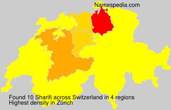 Surname Sharifi in Switzerland