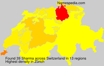 Surname Sharma in Switzerland