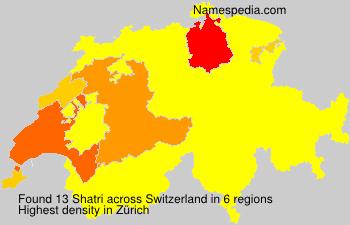 Surname Shatri in Switzerland
