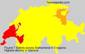 Surname Sideris in Switzerland