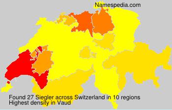 Surname Siegler in Switzerland