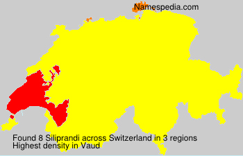 Surname Siliprandi in Switzerland