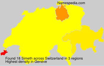 Surname Simeth in Switzerland