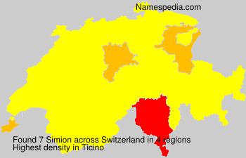 Surname Simion in Switzerland