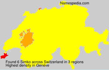 Familiennamen Simko - Switzerland