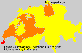 Surname Sims in Switzerland