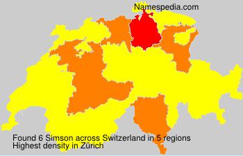 Surname Simson in Switzerland