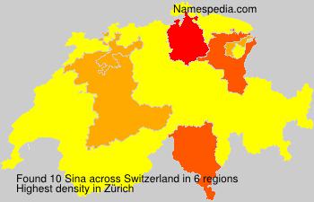 Surname Sina in Switzerland