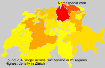 Surname Singer in Switzerland
