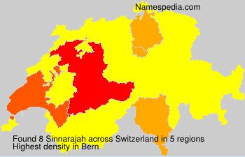 Surname Sinnarajah in Switzerland
