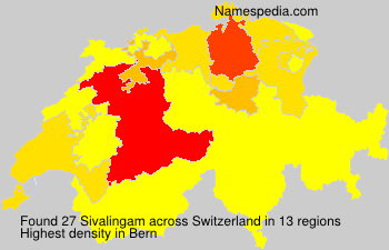 Surname Sivalingam in Switzerland
