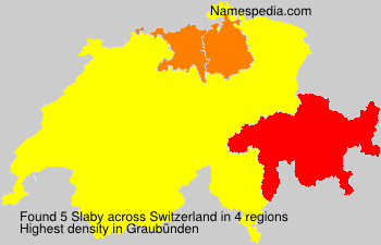 Surname Slaby in Switzerland