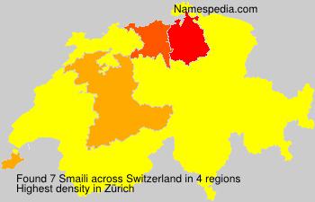 Surname Smaili in Switzerland
