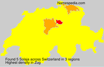 Surname Solaja in Switzerland