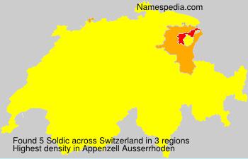 Surname Soldic in Switzerland