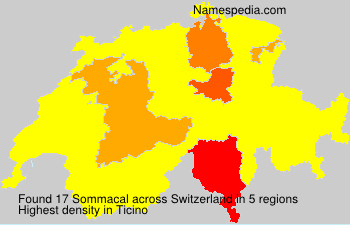 Surname Sommacal in Switzerland