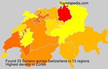 Surname Soriano in Switzerland