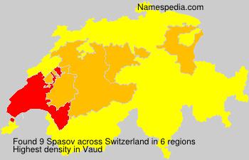 Surname Spasov in Switzerland