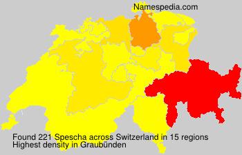 Familiennamen Spescha - Switzerland