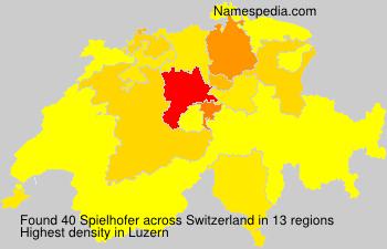 Surname Spielhofer in Switzerland