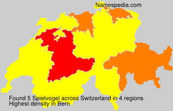 Surname Spielvogel in Switzerland