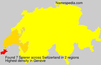 Surname Spierer in Switzerland