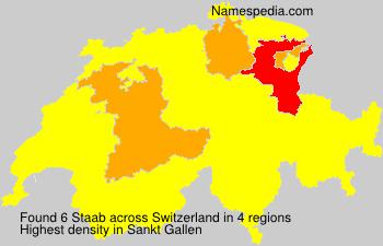 Familiennamen Staab - Switzerland