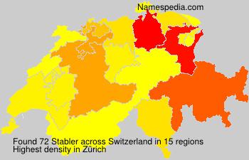 Surname Stabler in Switzerland