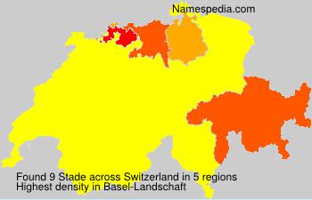 Surname Stade in Switzerland