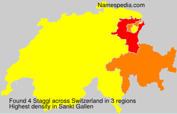 Surname Staggl in Switzerland