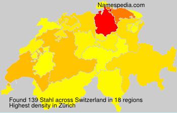Surname Stahl in Switzerland