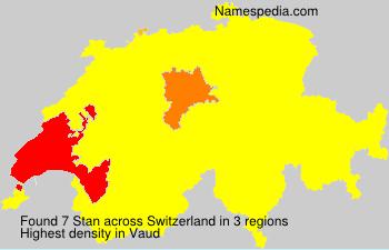 Surname Stan in Switzerland