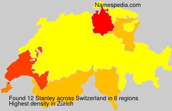 Surname Stanley in Switzerland
