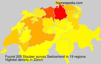 Surname Stauber in Switzerland