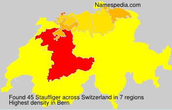 Surname Stauffiger in Switzerland