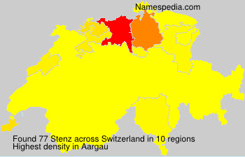 Surname Stenz in Switzerland
