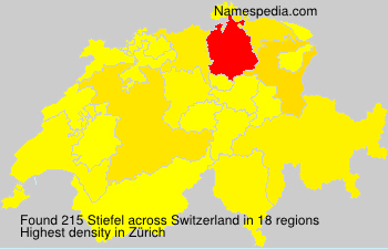 Surname Stiefel in Switzerland