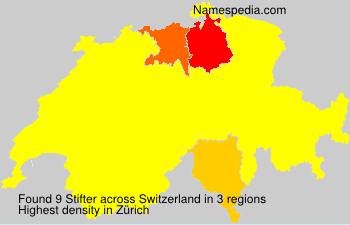 Surname Stifter in Switzerland
