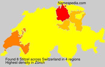 Surname Stitzel in Switzerland