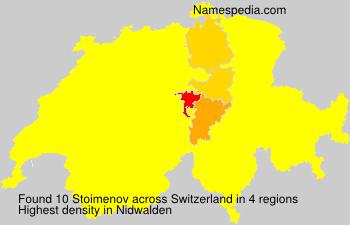 Surname Stoimenov in Switzerland