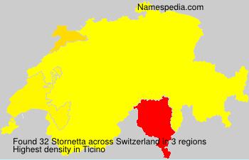 Surname Stornetta in Switzerland